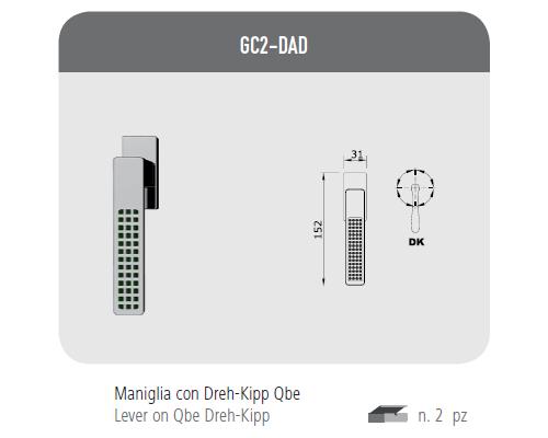 Maniglia con Dreh-Kipp Qbe