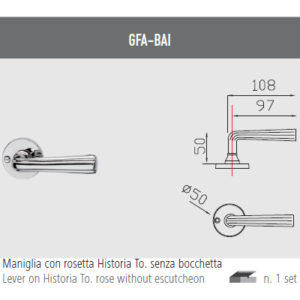 Handle with Roses Historia To. Without nozzle