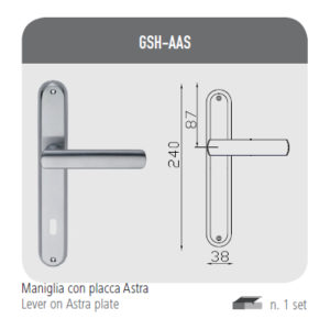Handle with Astra plate