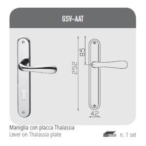 Handle with Thalassia plaque
