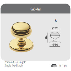 Single fixed knob