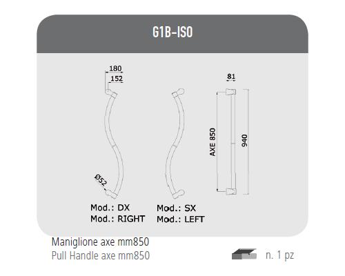Maniglione axe mm 850