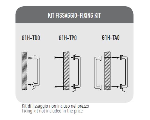 Maniglione Onda - Kit Fissaggio