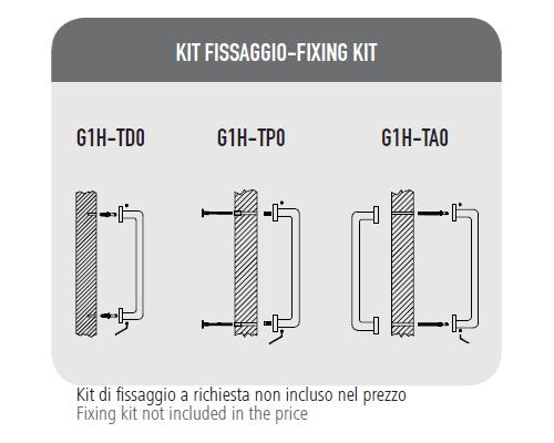 Maniglione QBE - Kit Fissaggio