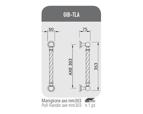 Maniglione axe mm 303