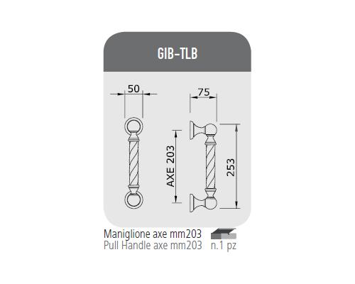 Maniglione axe mm 203