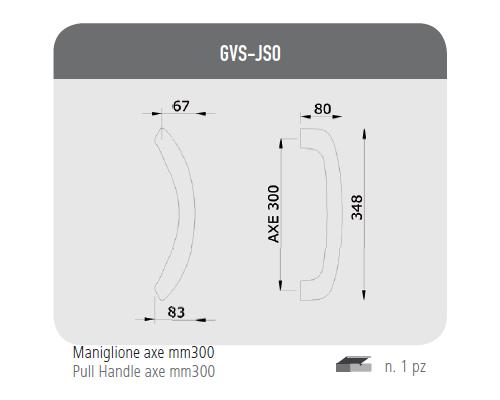 Maniglione axe mm 300