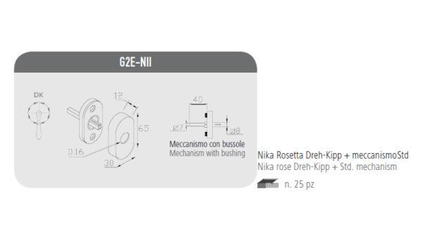 Nika rosetta Dreh-Kipp+meccanismo Std