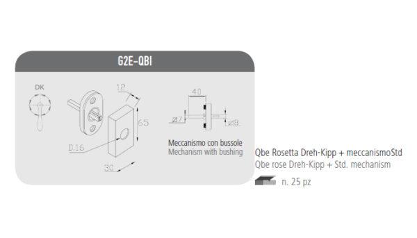 Qbe rosetta Dreh-Kipp+meccanismo Std